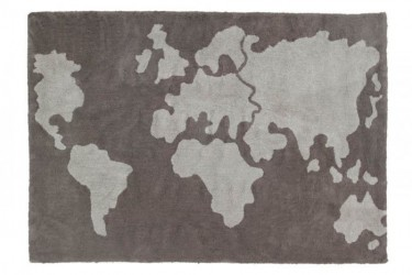 Alfombra Lavable World Map