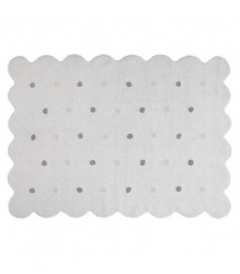 Alfombra Lavable Biscuit White
