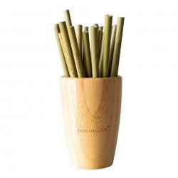 Set 5 pajitas de bambú Eco...